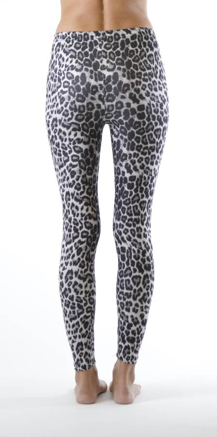 Grey Leopard Ankle Length Leggings - Home Goods Galore