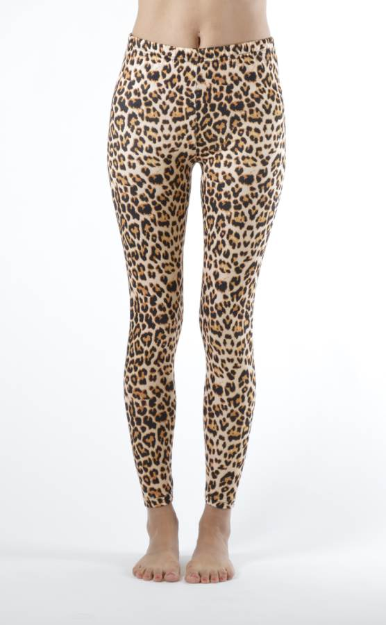 Brown Leopard Print Leggings - Home Goods Galore