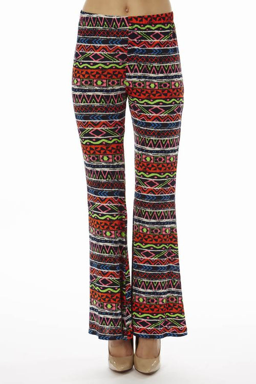 Red Tribal Wide Leg Palazzo Pants - Home Goods Galore