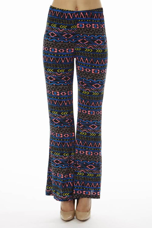 Navy Tribal Wide Leg Palazzo Pants - Home Goods Galore