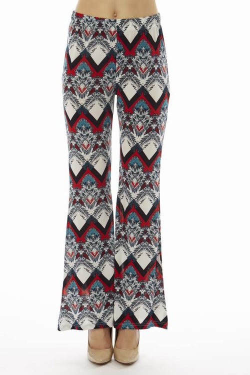 Red Snow Flake Wide Leg Palazzo Pants - Home Goods Galore