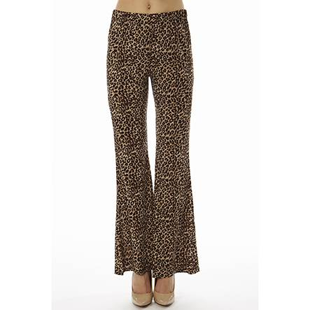 Leopard Print Wide Leg Bell Bottoms - Home Goods Galore