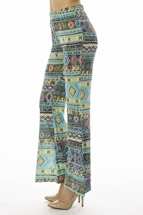 Mint Tribal Wide Leg Pants - Home Goods Galore