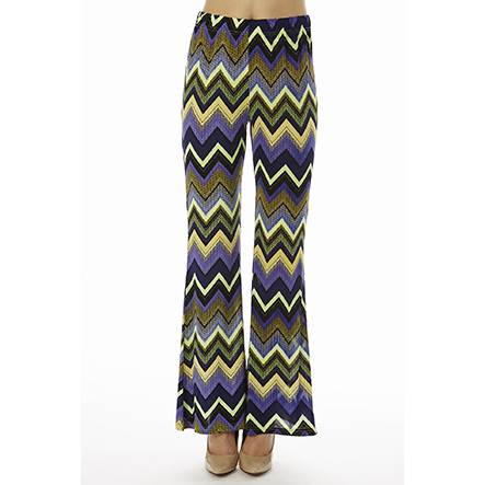 Blue Chevron Palazzo Pants - Home Goods Galore