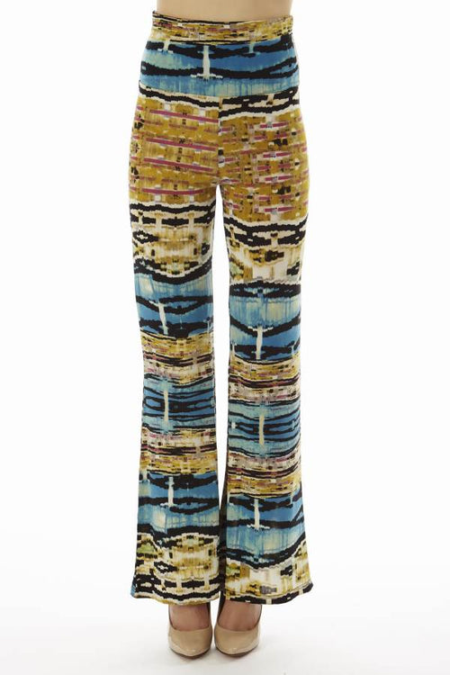 High Waist Blue Egyptian Palazzo Pants - Home Goods Galore