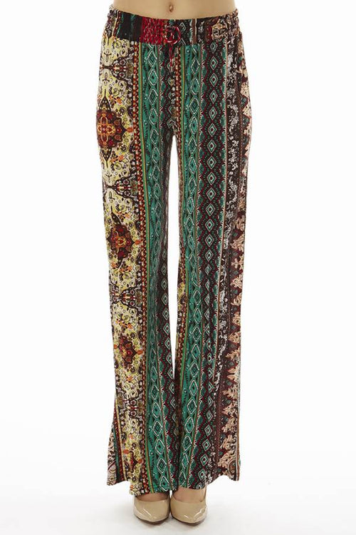 Boho Hippie Tribal Palazzo Pants - Home Goods Galore