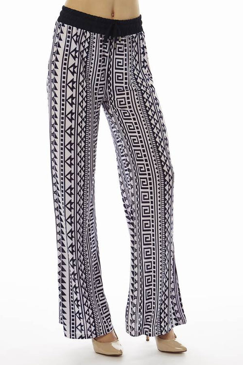 Geometric Print Flared Pants - Home Goods Galore