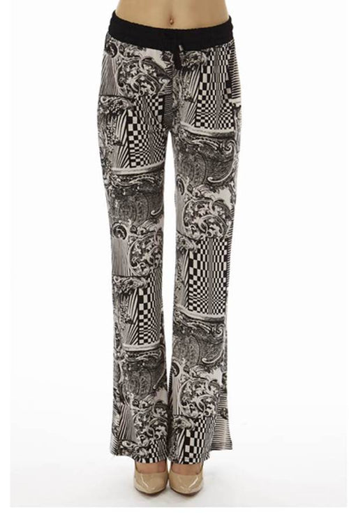 Abstract Checkered Palazzo Soft Pants - Home Goods Galore