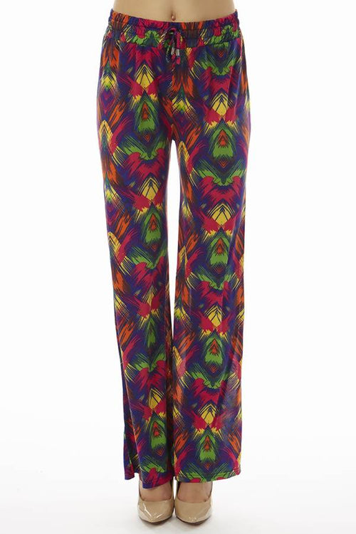 Vibrant Tropical Palazzo Pants - Home Goods Galore