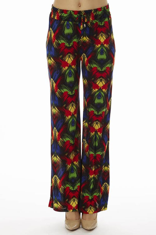 Vibrant Tropical Night Palazzo Pants - Home Goods Galore