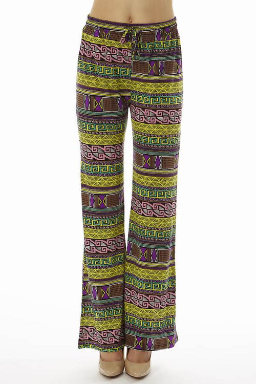 Vibrant Tribal Wide Leg Palazzo's - Home Goods Galore