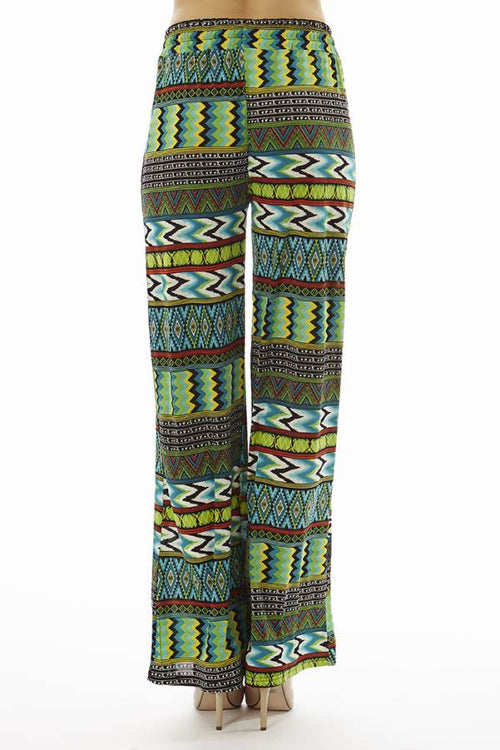 Chevron Tribal Print Evergreen Palazzo's - Home Goods Galore