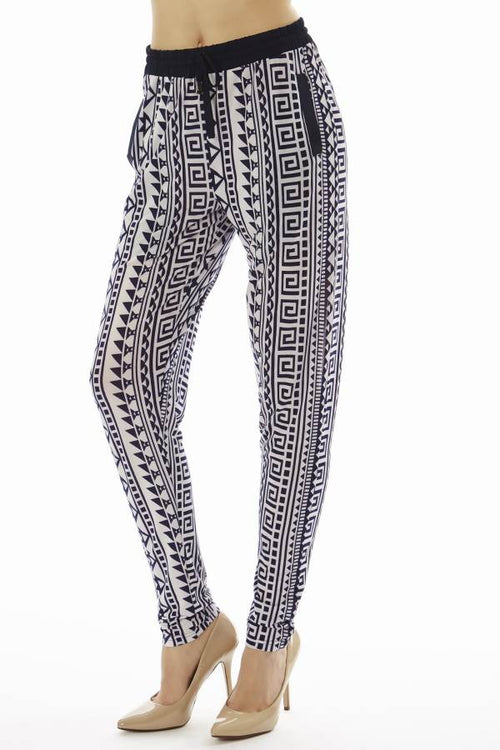 Geometric Tribal Print Jogger Pants - Home Goods Galore