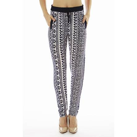 Geometric Tribal Print Joggers - Home Goods Galore