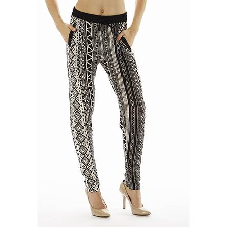 Printed Tribal High Waisted Joggers - Home Goods Galore