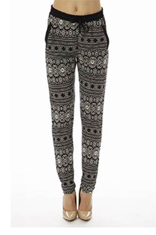 High Waisted Tribal Joggers - Home Goods Galore