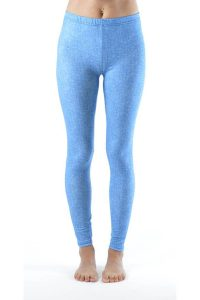Baby Blue Denim Print Leggings