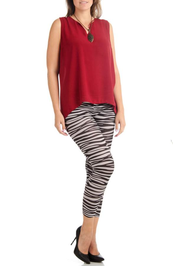 Ankle Length Plus Size Zebra Leggings - Home Goods Galore