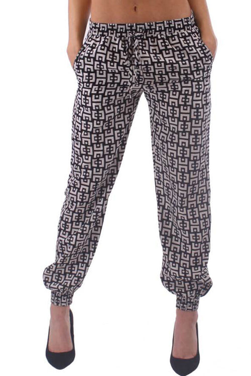Black & White Print Harem Pants - Home Goods Galore
