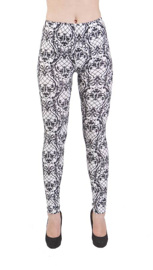 Victorian Fishnet Pattern Plus Size Leggings - Home Goods Galore