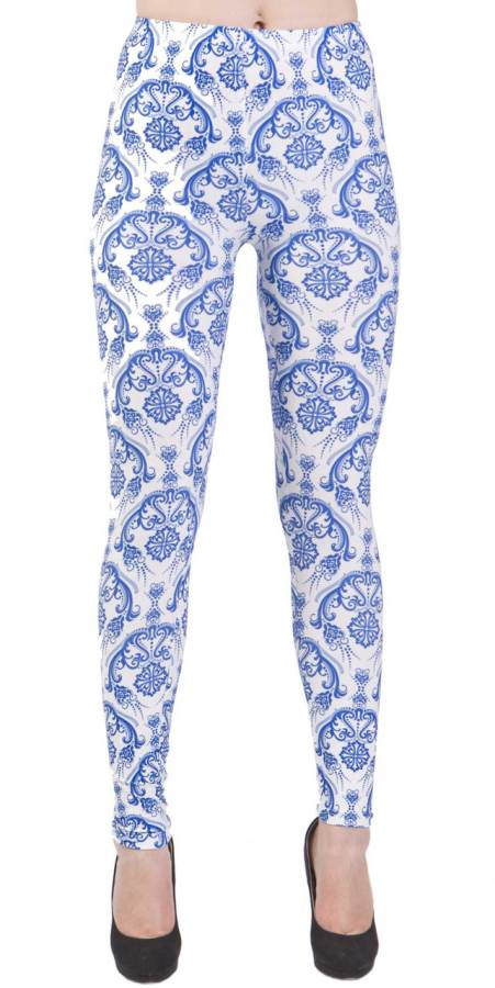 Vintage Flair Blue Plus Size Leggings - Home Goods Galore