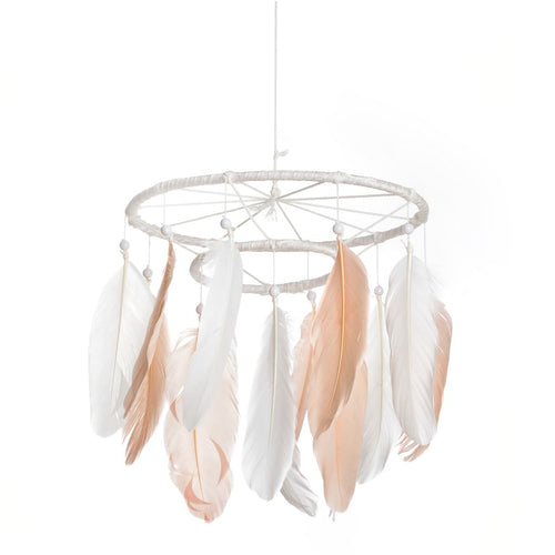 Dream Catcher Pink White Mobile Large Dream Catcher Mobile Feather