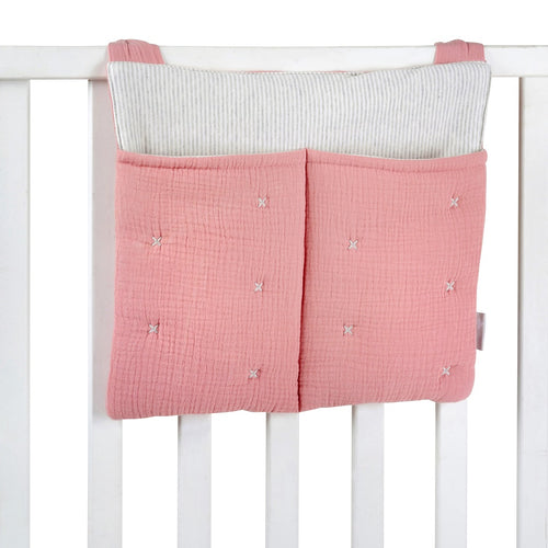 Pink Tetra Cotton Diaper Bag
