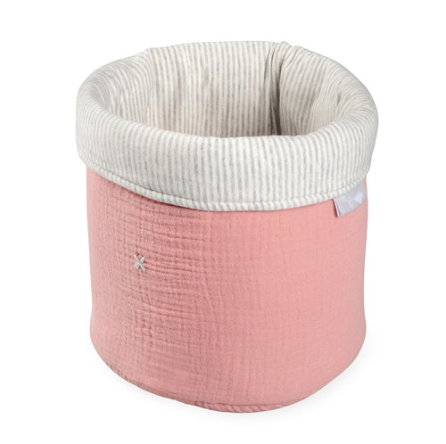 Foldable Pink Tetra Storage Bin Closet Toy Box Container Organizer Fabric Basket