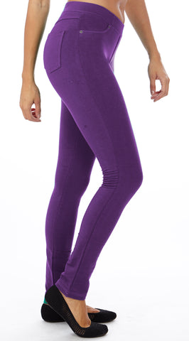 Women's Purple color Brazilian Moleton Jeggings