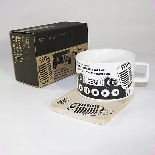 SYNC - [Recording Studio] Espresso Cup / Wood Coaster (2.5 inch height)