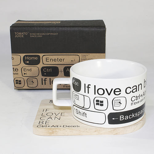 SYNC - [If Love Can Be] Espresso Cup / Wood Coaster (2.5 inch height)