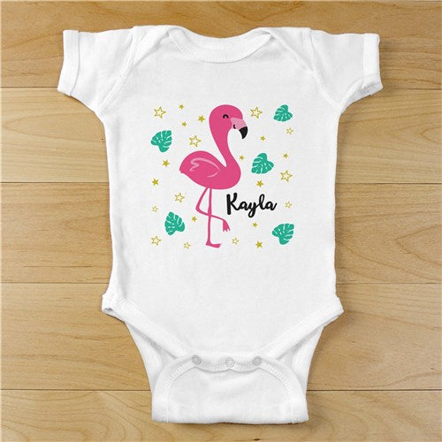 Personalized Flamingo Infant Bodysuit