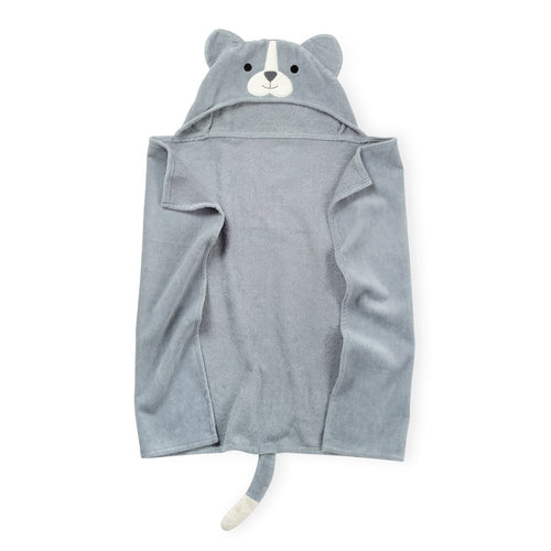 Gray Puppy Kids Hooded Towel Premium Cotton