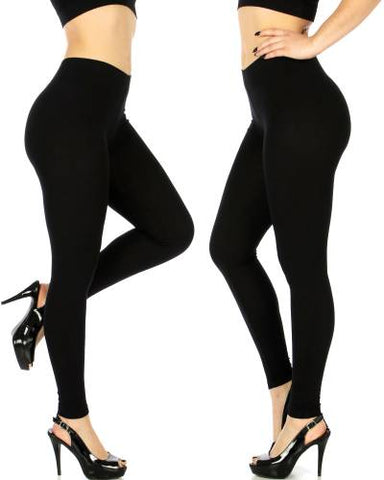 Stretch Black Jeggings With Crochet Front