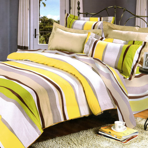 BlanchoSpringtime 100% Cotton 4PC Comforter Cover/Duvet Cover Combo Queen Size - Home Goods Galore
