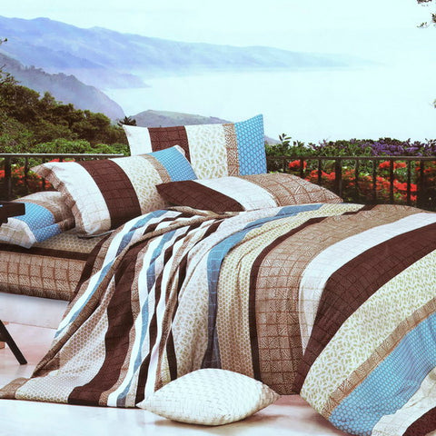 Blancho Bedding - [Rhythm of Colors] Luxury 10PC MEGA Bed In A Bag Combo 300GSM (Queen Size)