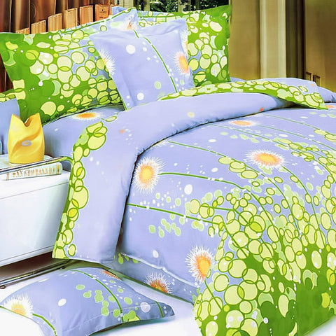 [Friendly Katy] Quilted Patchwork Down Alternative Comforter Set (Full/Queen Size)