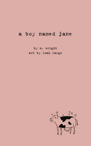 a boy named jane, by M. Wright, with art by Leah Fargo
