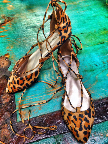 Lusciouse Leopard Lace-Up Shoes