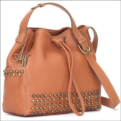 American West Dixie Girl Crossbody Bucket Handbag