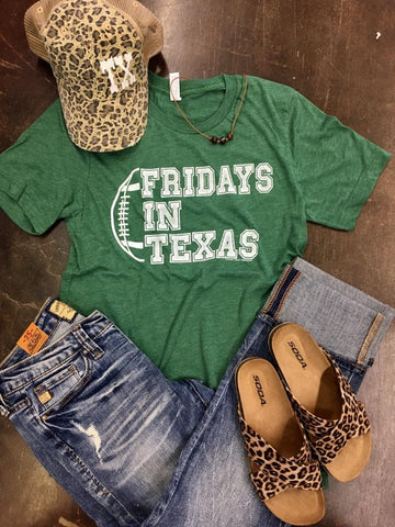 Fridays in Texas Football Tee