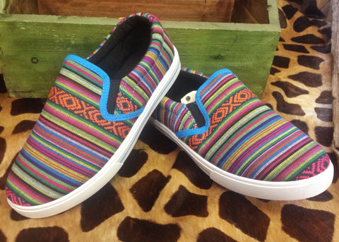 Turquoise Serape Slip On Shoe