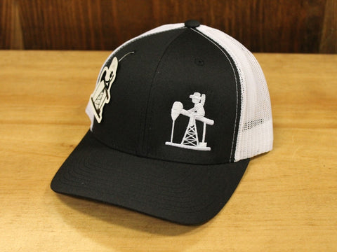 Oil Field Trucker - Black/White
