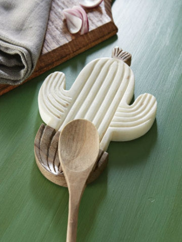 Marble Cactus Spoon Rest
