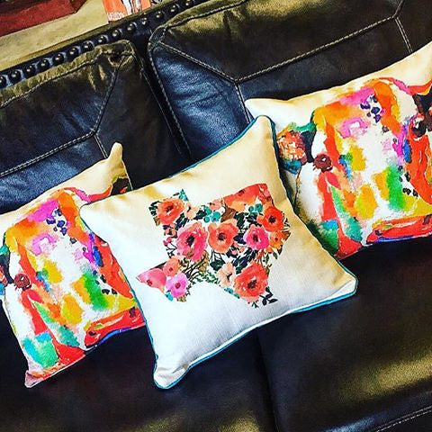 Floral Texas Pillow