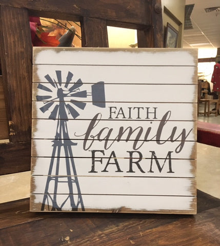 Faith Family Farm Wall Art
