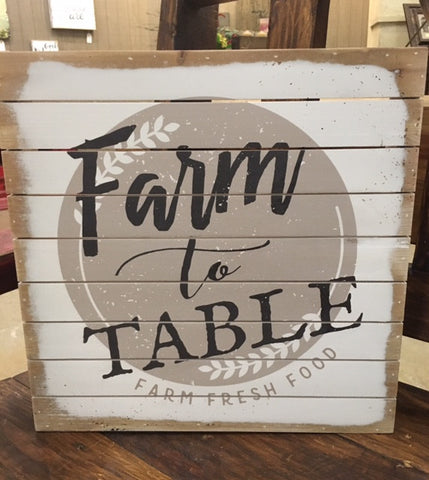 Farm to Table Wall Art