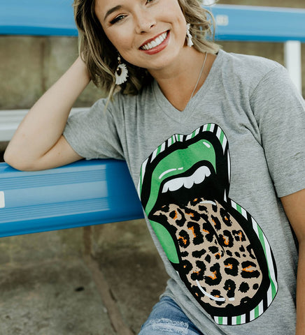 Green Spirit Lips Tee