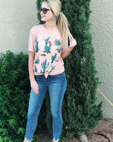All Over Cactus Tee