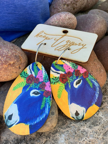 Donkey Leather Earrings